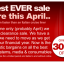 APRIL 2012 Year End Stock Clearance – Yikes !